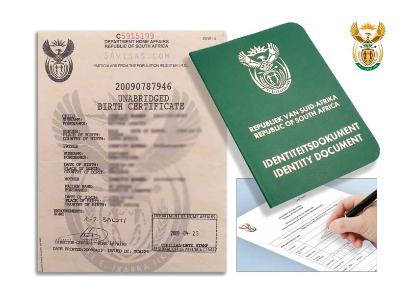 South Africa Unabridged Birth Certificates Home Affairs